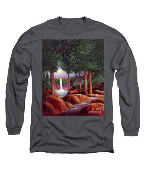 Summer In The Garden Of Eden Long Sleeve T-Shirt by Randy Burns