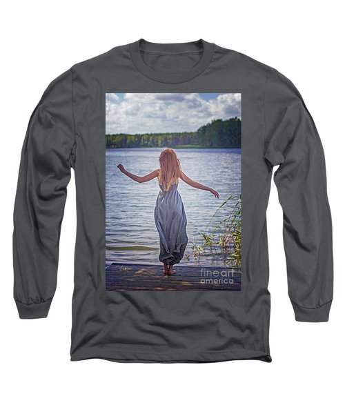 Summer In The Light And Winter In The Shade Long Sleeve T-Shirt by Agnieszka Mlicka