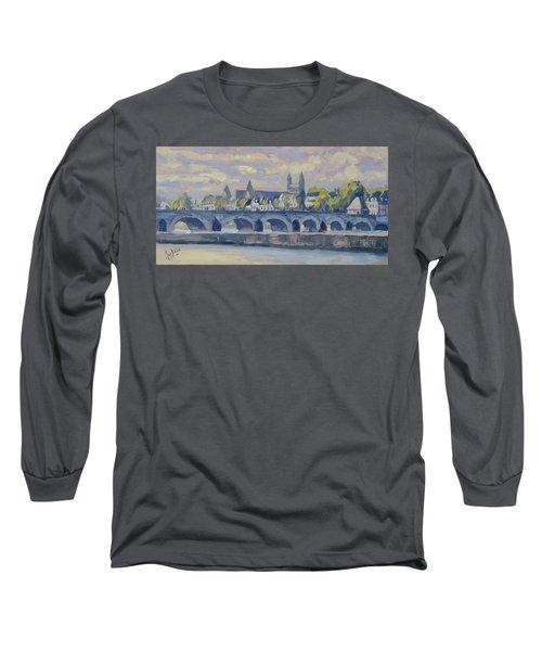 Summer Maas Bridge Maastricht Long Sleeve T-Shirt