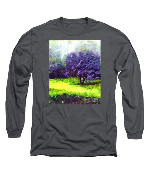 Long Sleeve T-Shirt featuring the painting Summer Mist by Patricia Griffin Brett