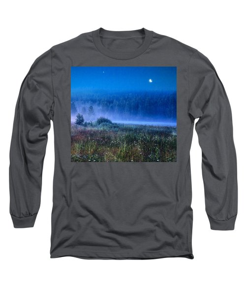 Long Sleeve T-Shirt featuring the photograph Summer Night by Vladimir Kholostykh
