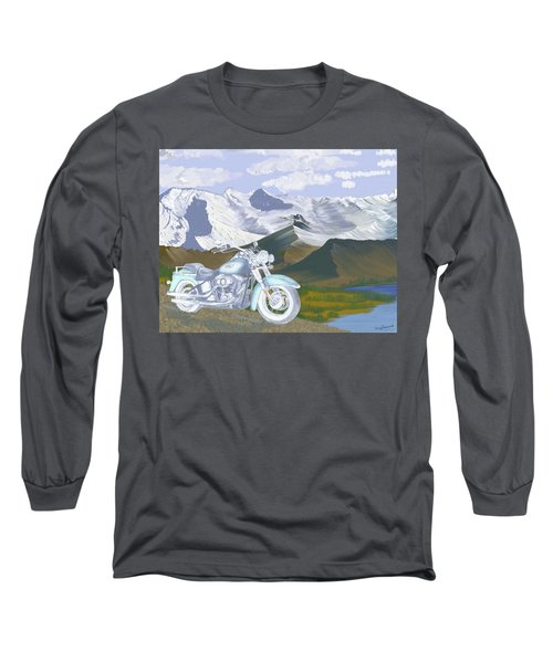 Long Sleeve T-Shirt featuring the drawing Summer Ride by Terry Frederick