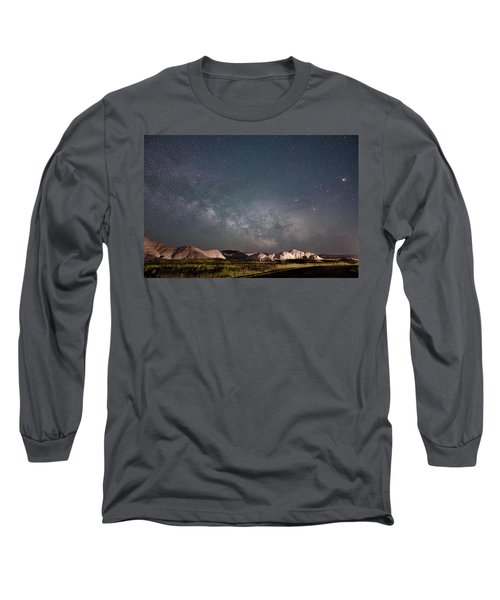 Summer Sky At Badlands  Long Sleeve T-Shirt