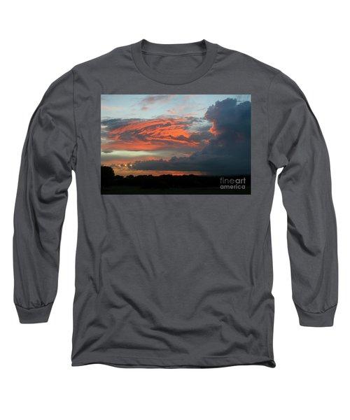 Summer Sky On Fire  Long Sleeve T-Shirt
