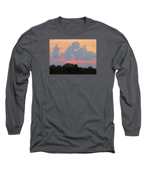 Summer Sunset In Missouri Long Sleeve T-Shirt by Robin Regan