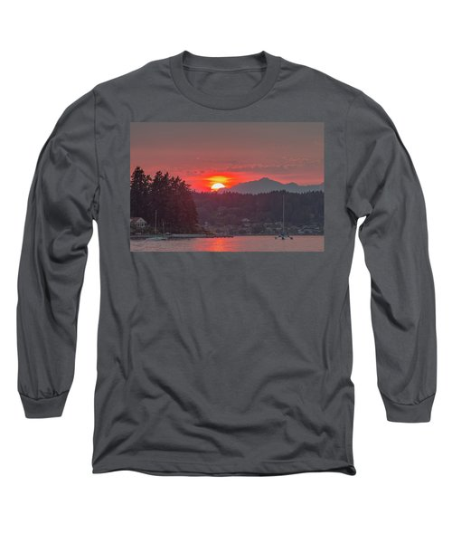 Summer Sunset Over Yukon Harbor.1 Long Sleeve T-Shirt