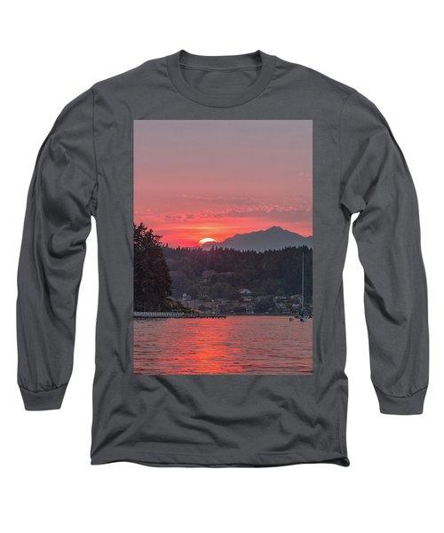 Summer Sunset Over Yukon Harbor.4 Long Sleeve T-Shirt