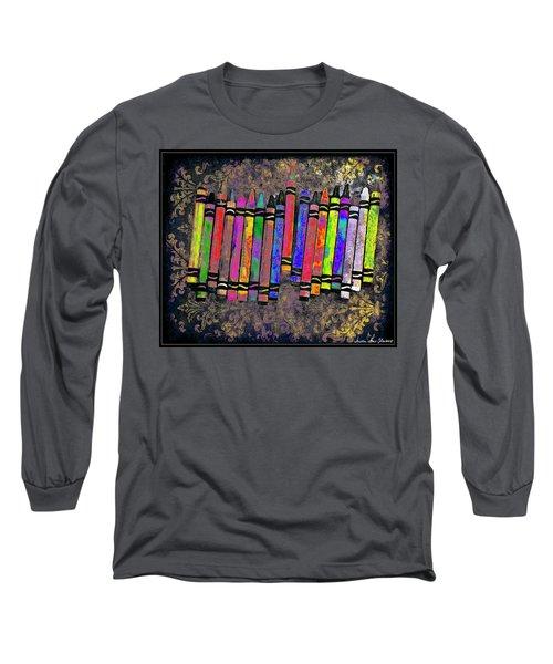 Summer's Crayon Love Long Sleeve T-Shirt by Iowan Stone-Flowers