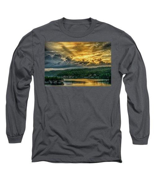 Summersville Lake Sunrise Long Sleeve T-Shirt