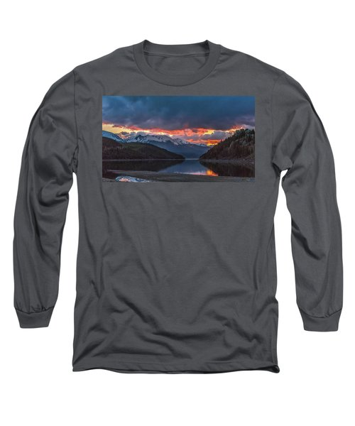 Summit Cove June Sunset Long Sleeve T-Shirt by Stephen Johnson