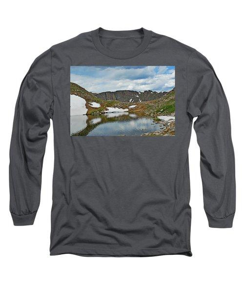 Summit Lake In Summer Long Sleeve T-Shirt
