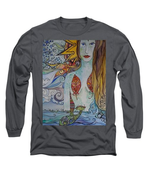 Sun And Sea Godess Long Sleeve T-Shirt