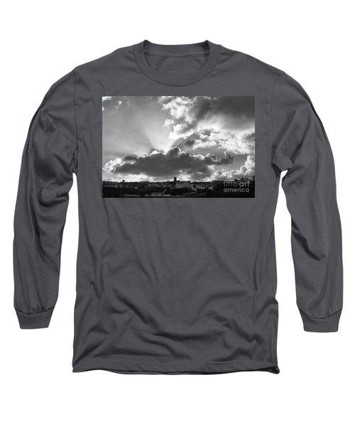 Long Sleeve T-Shirt featuring the photograph Sun Beams Over Church by Nicholas Burningham