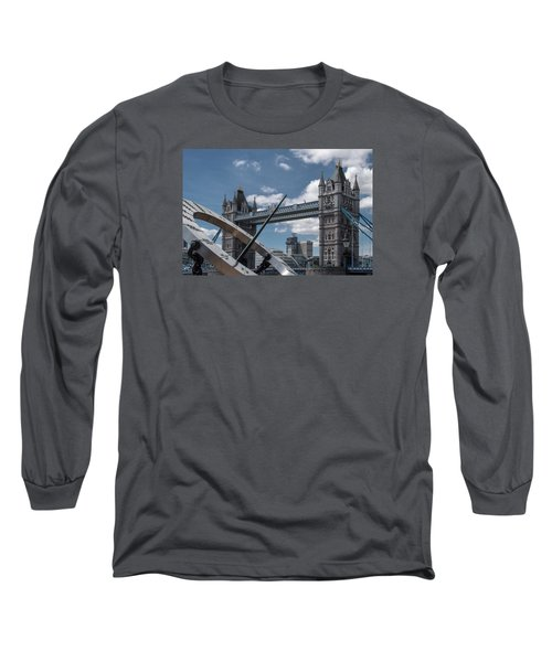 Sun Clock With Tower Bridge Long Sleeve T-Shirt