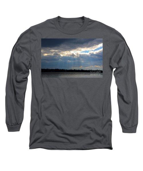 Sun Dance On The Delaware River Long Sleeve T-Shirt