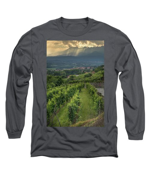 Sun Filtering Through The Clouds  Long Sleeve T-Shirt