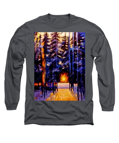 Long Sleeve T-Shirt featuring the painting Sun Kiss..2 by Cristina Mihailescu