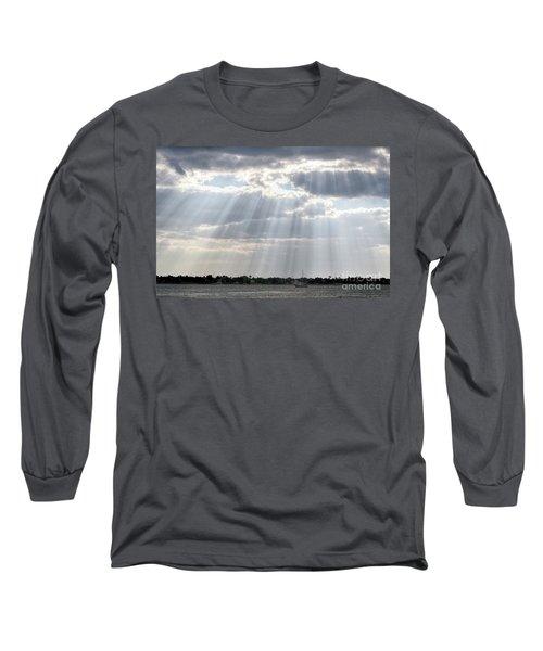 Sun Rays Over Lagoon Long Sleeve T-Shirt
