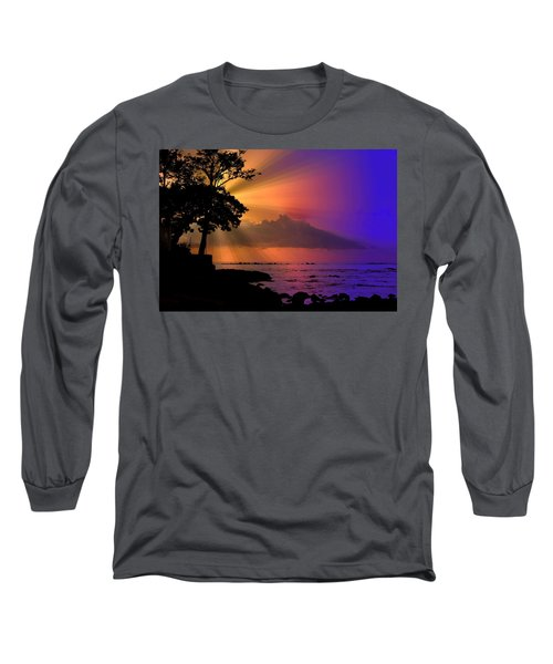 Long Sleeve T-Shirt featuring the photograph Sun Rays Sunset by Lori Seaman