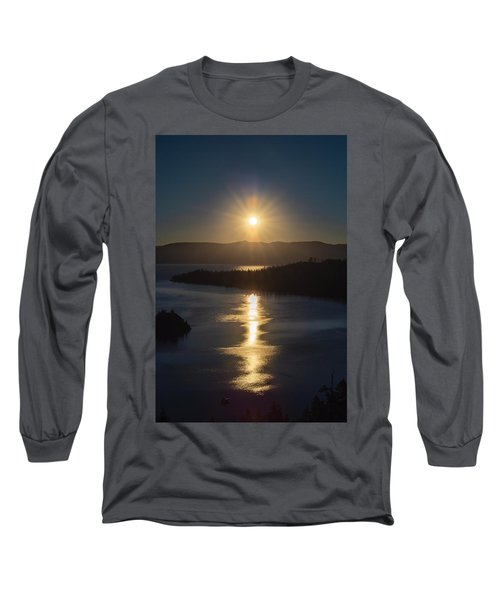 Sun Rising Over Lake Tahoe Long Sleeve T-Shirt