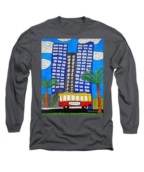 Sun Trolley Long Sleeve T-Shirt by Brandon Drucker