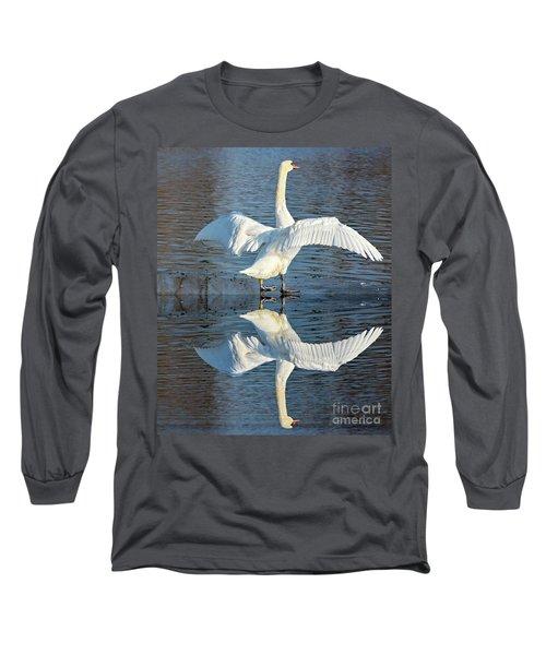 Sunbathing Swans Long Sleeve T-Shirt