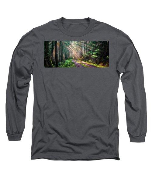 Sunbeams In Trees Long Sleeve T-Shirt