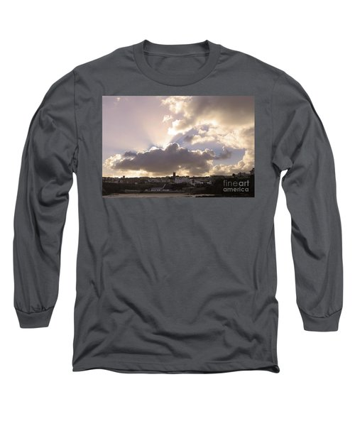 Long Sleeve T-Shirt featuring the photograph Sunbeams Over Church In Color by Nicholas Burningham