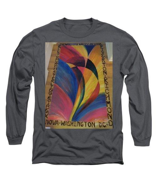 Sunburst Floorcloth Long Sleeve T-Shirt
