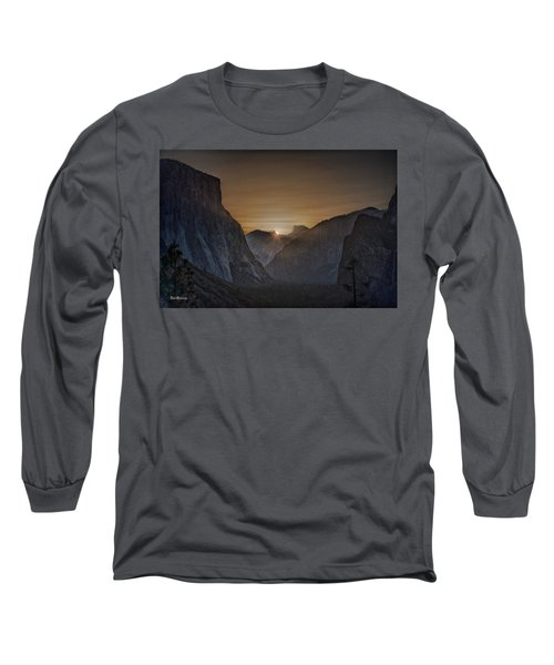 Sunburst Yosemite Long Sleeve T-Shirt by Bill Roberts