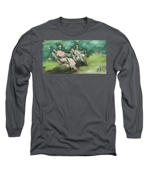 Sunday Afternoon Tea Long Sleeve T-Shirt by Jim Vance