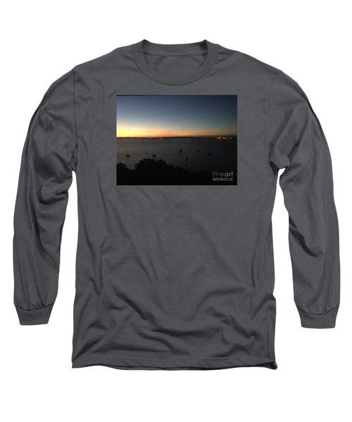 Sunday Sunrise, October 4, 2015, Casco Bay, Portland, Maine Long Sleeve T-Shirt