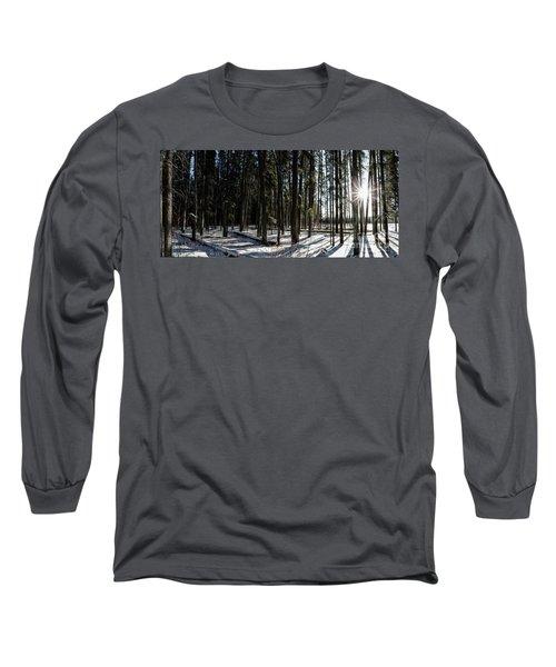 Sundial Forest Long Sleeve T-Shirt by Brad Allen Fine Art