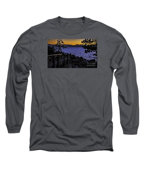 Long Sleeve T-Shirt featuring the photograph Sundown At Sand Harbor by Nancy Marie Ricketts