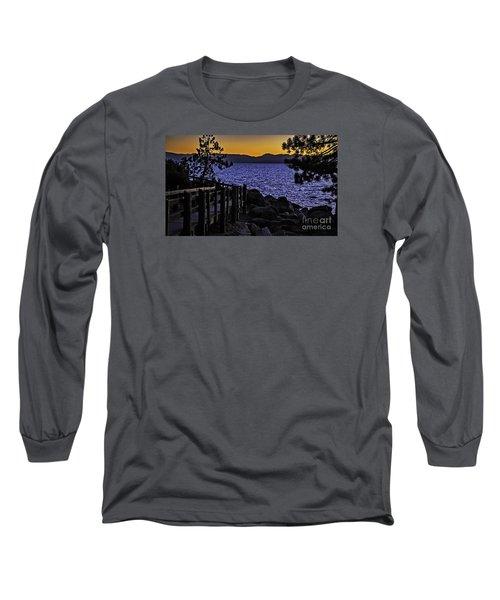 Sundown At Sand Harbor Long Sleeve T-Shirt