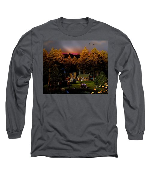 Sundown In The Rockies Long Sleeve T-Shirt by J Griff Griffin