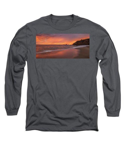 Sundown Over Crescent Beach Long Sleeve T-Shirt