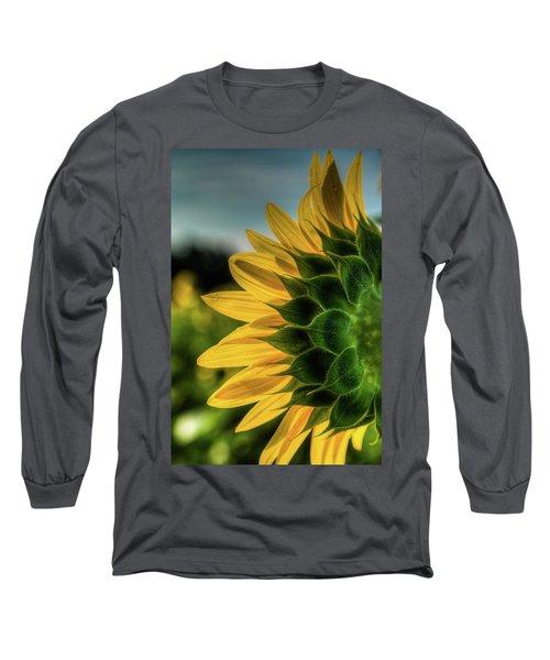 Sunflower Blooming Detailed Long Sleeve T-Shirt