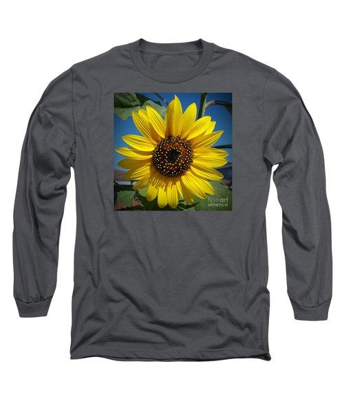 Sunflower Glow Long Sleeve T-Shirt by Loriannah Hespe