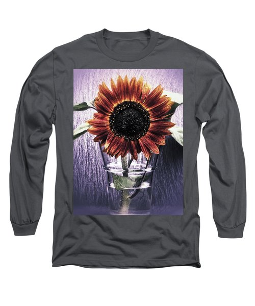 Long Sleeve T-Shirt featuring the photograph Sunflower In A Cup by Karen Stahlros