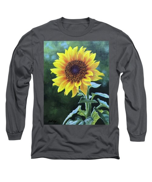 Sunflower Long Sleeve T-Shirt by Janet King