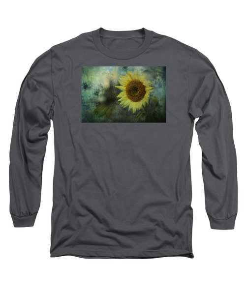 Sunflower Sea Long Sleeve T-Shirt by Belinda Greb