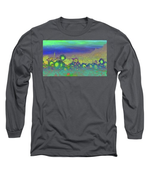 Sunflower Serenade Long Sleeve T-Shirt by Mike Breau