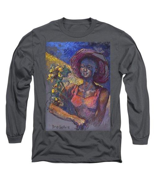 Sunflower Woman Long Sleeve T-Shirt