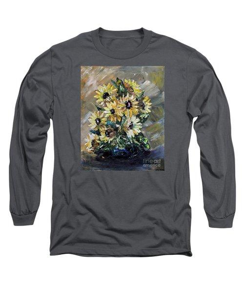 Sunflowers Long Sleeve T-Shirt by Teresa Wegrzyn