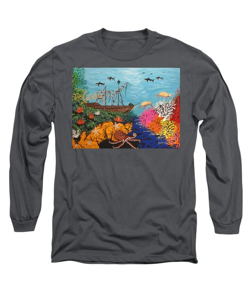 Sunken Treasure Ship Long Sleeve T-Shirt
