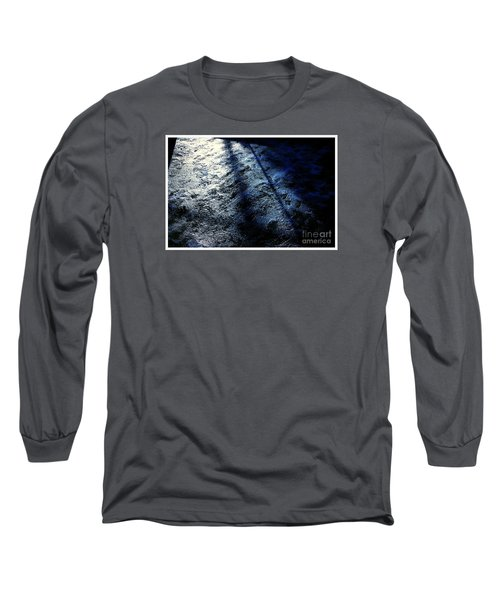 Sunlight Shadows On Ice - Abstract Long Sleeve T-Shirt