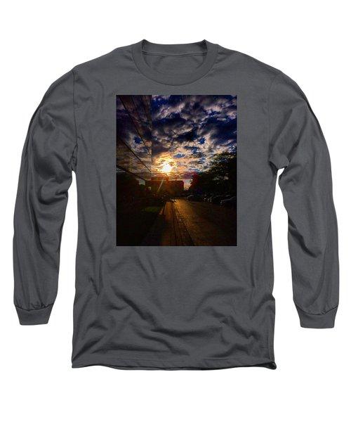Sunlit Cloud Reflection Long Sleeve T-Shirt by Nick Heap