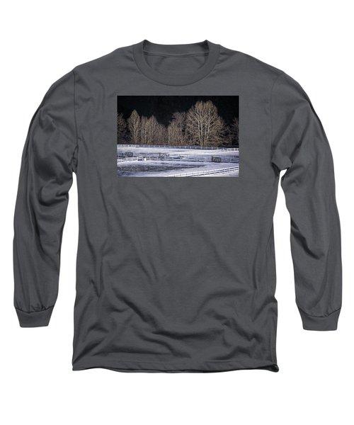 Sunlit Trees Long Sleeve T-Shirt by Tom Singleton