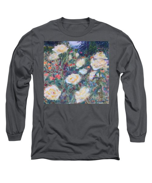 Sunny Day At The Rose Garden Long Sleeve T-Shirt by Quin Sweetman